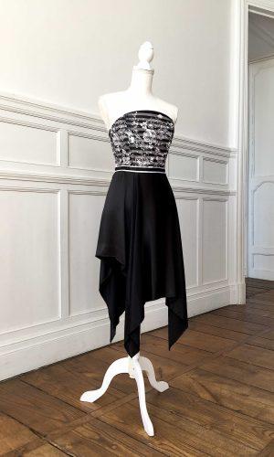 Robe de cocktail Glaçon noir T38-42
