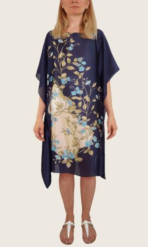 Tunique bleu avec des fleurs<br> Série limitée 7 pièces